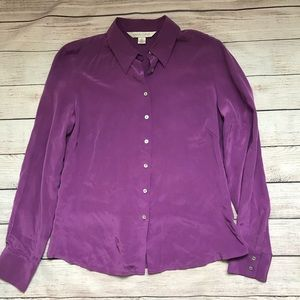 Purple 100% Silk size 6 shirt